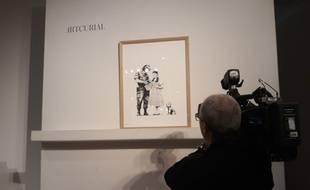 Ce mercredi, la maison de ventes Artcurial, mettait aux enchères quatre oeuvres de l'artiste Banksy.