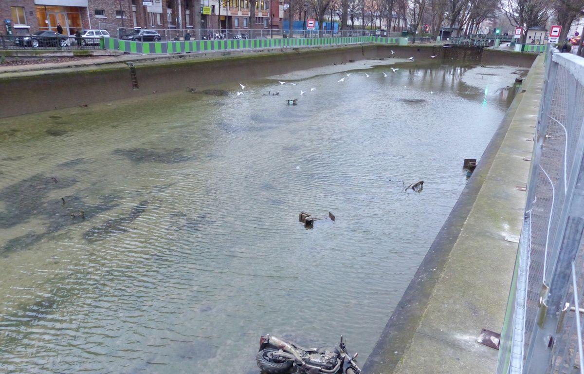 Le canal Saint-Martin ce mardi – R.LESCURIEUX