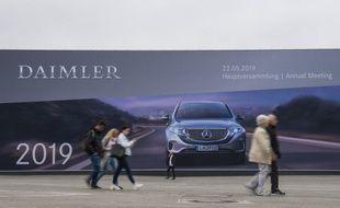 Un panneau de publicité géant pour une voiture dans les rues de Berlin (image d'illustration).