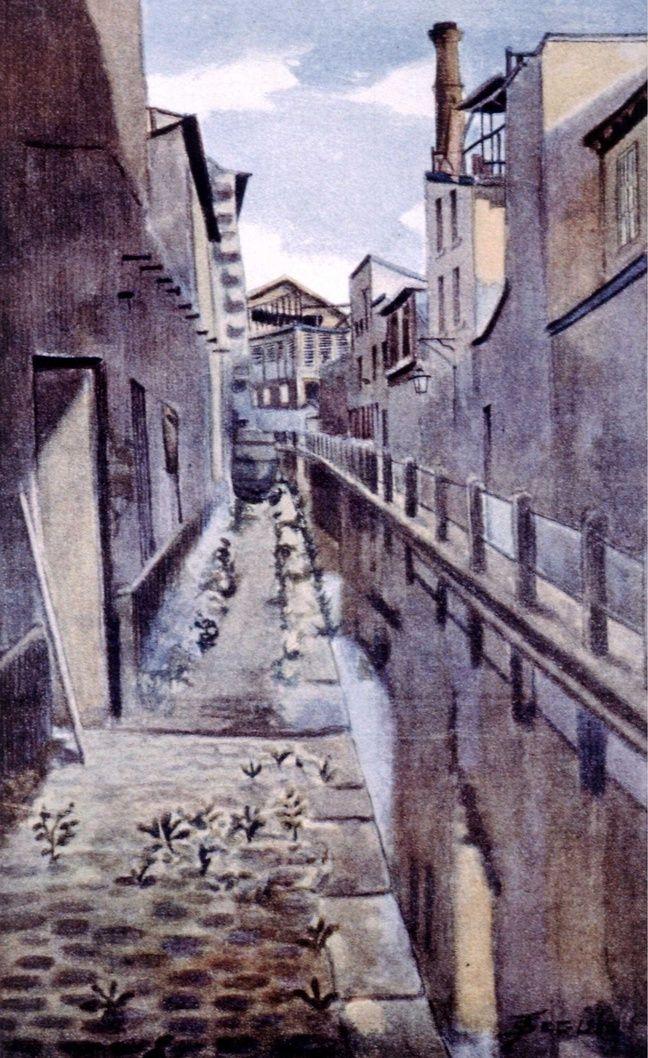 La Bièvre à Paris en 1898 (dessin).