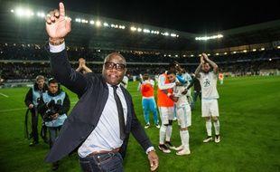 Basile Boli au Stade Bonal de Sochaux le 20 avril 2016
