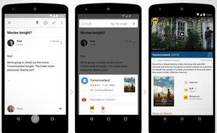 L'assistant Google Now dans Android M, attendu à l'automne 2015.