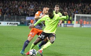 MHSC Lille : Le Lillois Fodé Ballo et le Montpelliérain Ruben Aguilar.