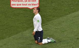 Antoine Griezmann n'a pas pesé sur le jeu de l'équipe de France lors du premier tour de la Coupe du monde.