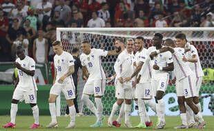 L'équipe de France pendant l'Euro 2021 lors du march contre le Portugal