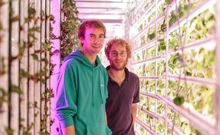 Guillaume Fourdinier et Gonzague Gru, les deux fondateurs de la start-up Agricool.
