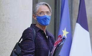 La ministre du Travail Elisabeth Borne à la sortie de l'Elysée, le 27 janvier.