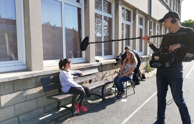 Tournage du documentaire «Réenchantons l'école» dans une école de Creil, dans l'Oise.