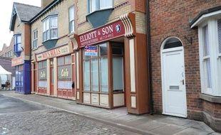 Le set du soap «Coronation Street» à Manchester, en Grande-Bretagne.