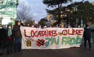 Lors d'une manifestation de locataires de la Faourette, le 12 janvier, pour réclamer le retour du chauffage.