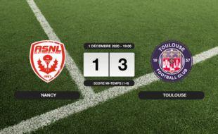 Ligue 2, 13ème journée: Le TFC bat Nancy 1-3 à l'extérieur