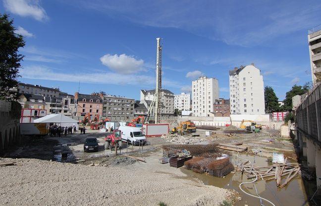 Les travaux viennent de commencer dans le programme immobilier Heritaj à Rennes.