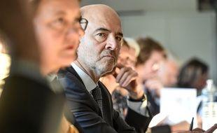 Le commissaire européen Pierre Moscovici à Blanquefort.