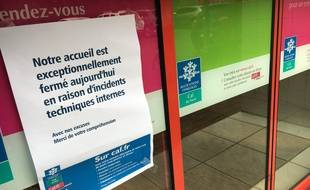 Accueil fermé à l'agence CAF de Lille-Fives