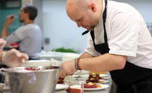 Le chef Julien Lemarié, ici lors d'un événement au restaurant Le Mabilay en 2016.