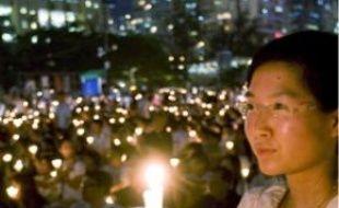 Une cérémonie a eu lieu à Hongkong, hier.