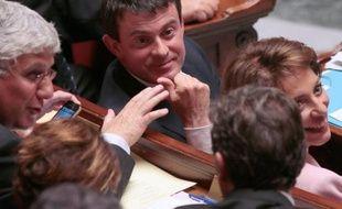 Le ministre de l'Intérieur Manuel Valls le 1er octobre 2013 à l'Assemblée nationale à Paris