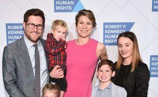 David McKean, Maeve Kennedy Townsend Mckean et leurs enfants, dont Gideon, deuxième en partant de la droite), en 2019.