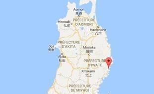L'épicentre du tremblement de terre était à 281 kilomètres à l'est de la ville de Kamaishi, sur l'île de Honshu.