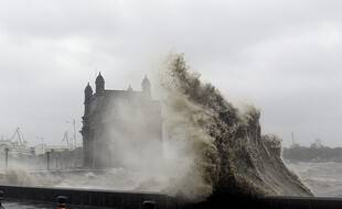Le cyclone a frappé ce lundi l'Inde