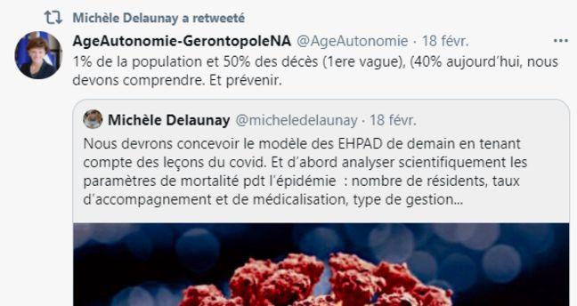 Michèle Delaunay souligne l'importante mortalité dans les Ehpad.