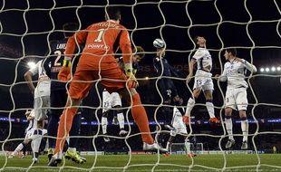 Toulouse et son gardien Mauro Goicoechea ont été éliminés en demi-finale de Coupe de la Ligue par le Paris Saint-Germain, le 27 janvier 2016 au Parc des Princes.