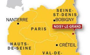 Carte de localisation de Noisy-le-Grand.