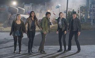 Abigail Breslin, Rosario Dawson, Jesse Eisenberg Emma Stone e, Woody Harrelson dans «Retour à Zombieland» de Ruben Fleischer
