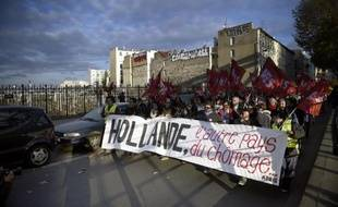 Manifestation contre le chômage à Paris, le 6 décembre 2014