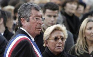 Le maire de Levallois-Perret Patrick Balkany et sa femme Isabelle à Levallois-Perret, le 2 mars 2009