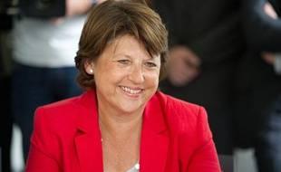 Martine Aubry maire de Lille, candidate aux primaires du PS (Parti Socialiste) pour l'elections presidentielles de 2012.
