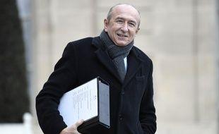 Le ministre français de l'Intérieur Gérard Collomb le 12 janvier 2018 à l'Elysée.