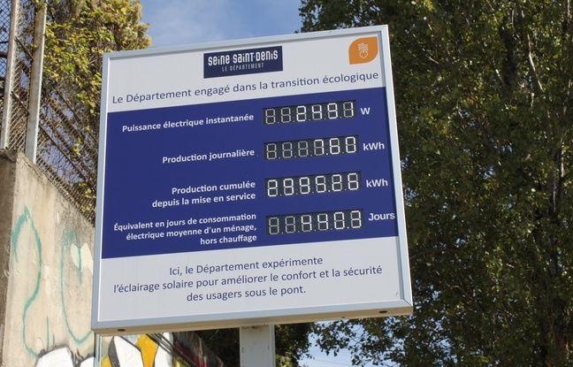 En sortie de piste, un panneau affiche en instantanée les performances des dalles photovoltaïques.