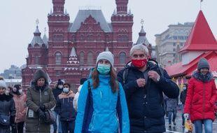 Sur la Place rouge à Moscou, le 20 décembre 2020.