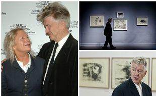 David Lynch et Agnès b., visite des expositions «David Lynch: The Unified Field» en 2014 et « David Lynch Litografie Lithographs» en 2015.