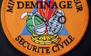Illustration des  démineurs de la Sécurité civile.