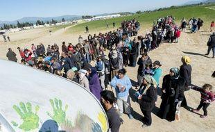 Un camp de réfugiés en Grèce.