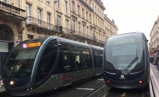 Tramway à Bordeaux.