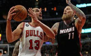 L'intérieur français des Chicago Bulls Joakim Noah, le 9 mars 2013, contre les Miami Heat.