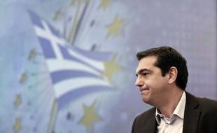 Alexis Tsipras, leader du parti Syriza, lors d'une conférence à Athènes en décembre 2014.