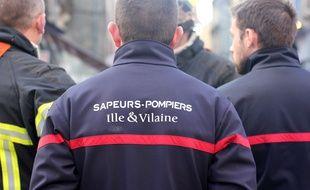 Des sapeurs pompiers interviennent, ici à Rennes.