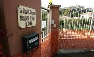 Maison de retraire Le Clos St Grégoire à Biot sur la Côte d'Azur, au lendemain des violents intempéries, le 4 octobre 2015, qui ont causé la mort de trois pensionnaires