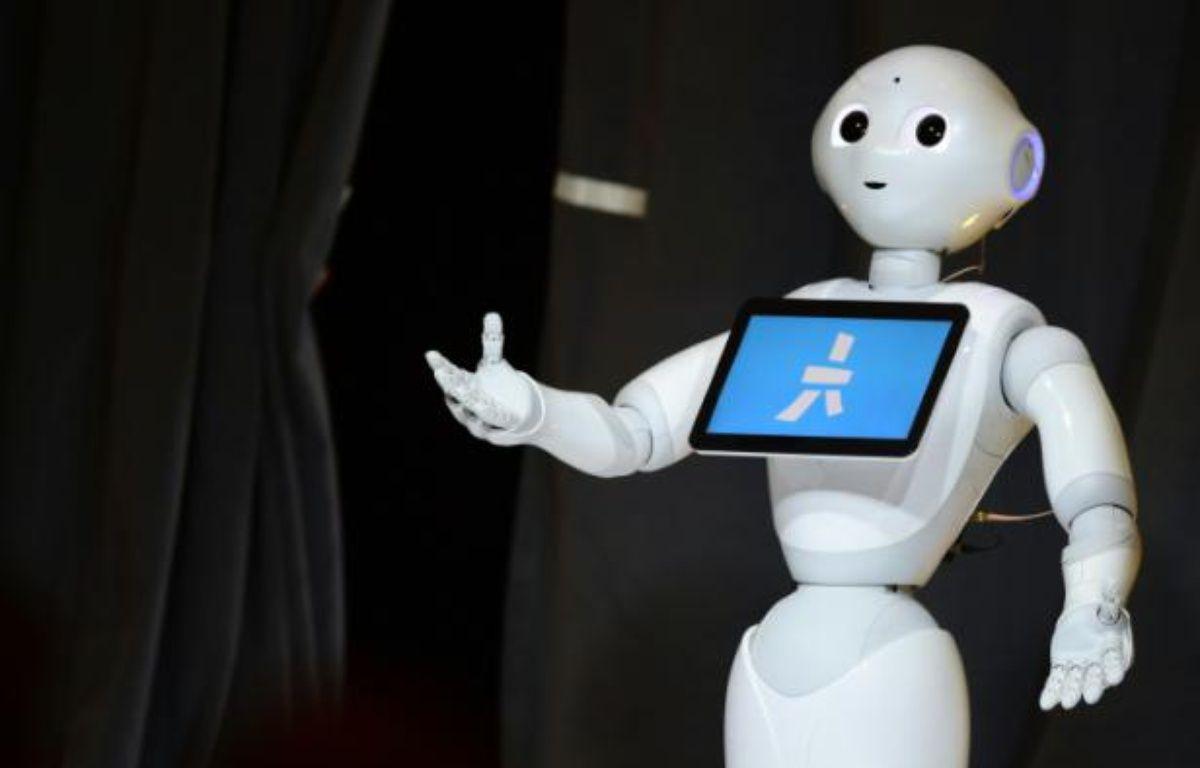 Le robot humanoïde Pepper, le 20 octobre 2015 à Laguna Beach, en Californie – Frederic J. Brown AFP