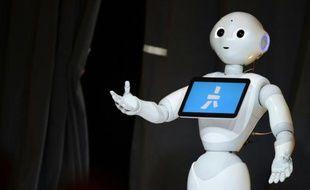 Le robot humanoïde Pepper, le 20 octobre 2015 à Laguna Beach, en Californie
