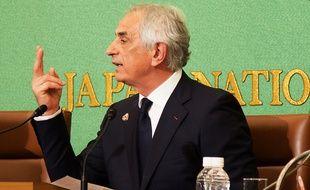 Vahid Halilhodzic au Club de la presse du Japon, à Tokyo, le 27 avril 2018.
