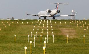 Un avion à l'aéroport Nantes-Atlantique.