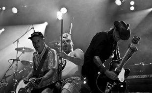 Le groupe Elmer Food Beat en concert, avec Manou et son épuisette.
