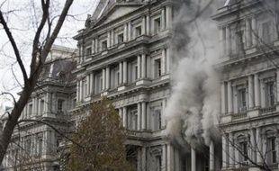 Un incendie dans les bureaux de l'administration du vice-président américain, près de la Maison Blanche, le 19 décembre 2007