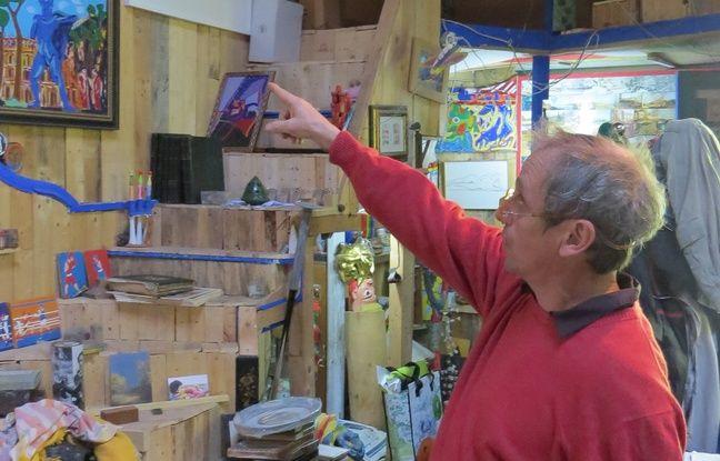 L'artiste s'est installé dans cette atelier en 1992.