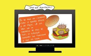 Le burger aux poils de Jean-Karim